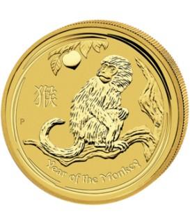 1 x 1 Oz Gold Lunar Affe II 2016