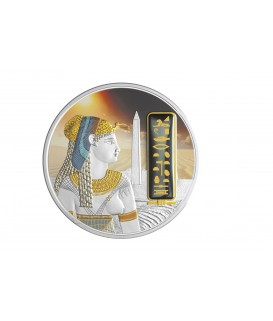 2 x 1 Oz Silbermuenze-Cleopatra-color