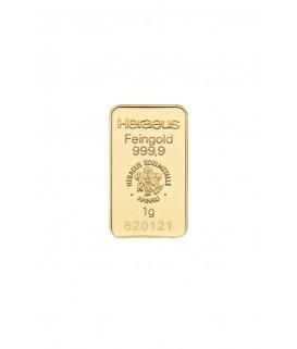 1 g Goldbarren-Heraeus
