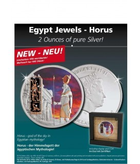2 x 1 Oz Silbermuenze-Horus-color*