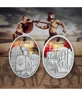 2 x 1 Oz Silber Gladiatoren - Gladiatrix 2013 und Gladiator 2013