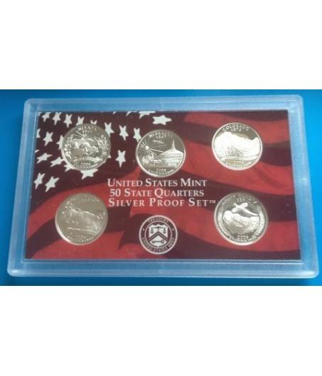5 x 0,18 Oz Silber USA Quarter 2007-Muster*