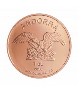 1 x 1 Oz Andorra Kupfer Eagle 2014*