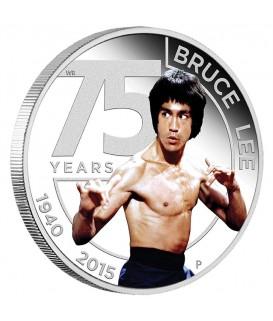1 x 1 Oz Silber Bruce Lee 75. Geburtstag