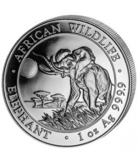 1 x 1 Oz Silber Somalia Elefant 2016*
