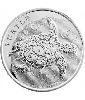 1 x 1 Oz Silber Fiji Taku Schildkröte Neuseeland 2016*