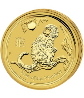 1 x 1/20 Oz Gold Lunar Affe II 2016