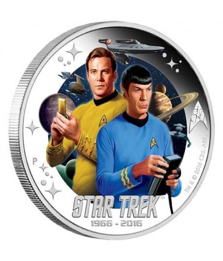 1 x 1 Oz Silber Star Trek Kirk und Spock 2016*
