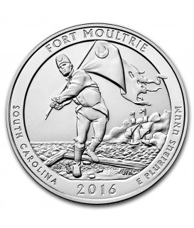 1 x 5 Oz Silber America the Beautiful Fort Moultrie 2016*
