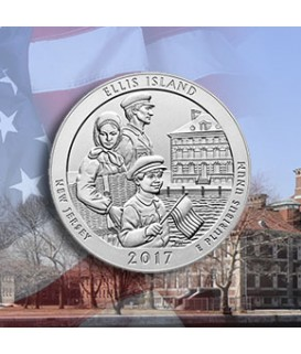 1 x 5 Oz Silber America the Beautiful Ellis Island 2017*