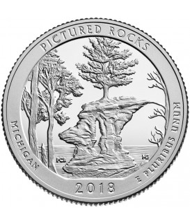 1 x 5 Oz Silber America the Beautiful Pictured Rocks 2018*