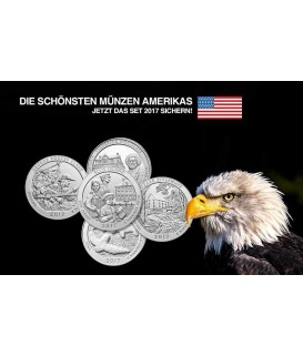 5 x 5 Oz America the Beautiful 2017 komplett-Silber*