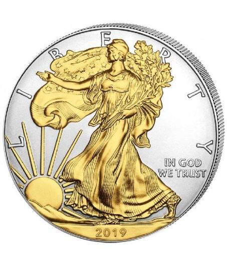1 x 1 Oz Silber American Eagle teilvergoldet 2019