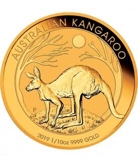 1 x 1/10 Oz Gold Australian Känguru 2019