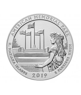 1 x 5 Oz Silber America the Beautiful Memorial 19*