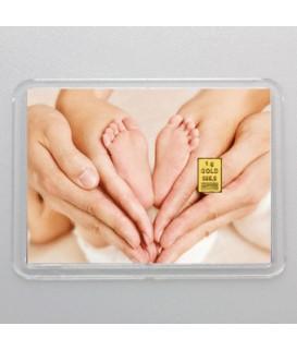 1 g Goldbarren Alles Gute zur Geburt