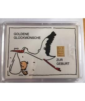 1 g Goldbarren zur Geburt