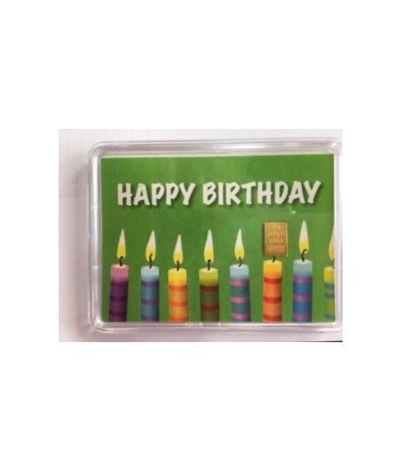 1 g Goldbarren Happy Birthday Kerzen