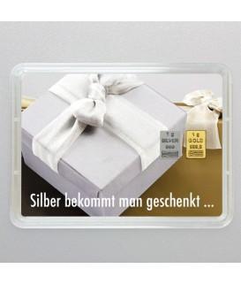 1 g Goldbarren Silber geschenkt Gold verdienen