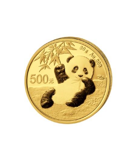 1 x 30 g Gold China Panda 2020