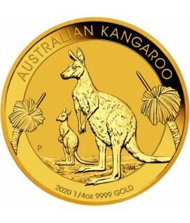 1 x 1/4 Oz Gold Australian Känguru