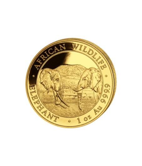 1 x 1 oz Gold Somalia Elefant 2020