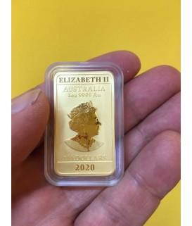 1 Unze Goldbarren Drachen 2020