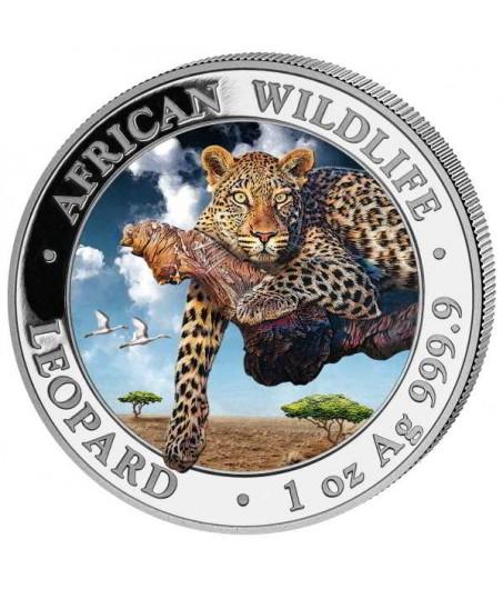 1 x 1 Oz Silber Somalia Leopard 2020-teilvergoldet*