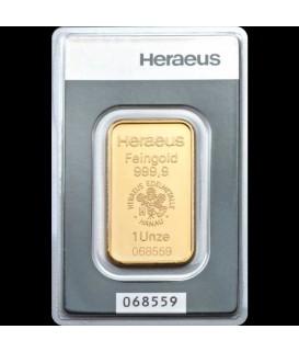 1 Unze Goldbarren-Heraeus