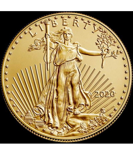 1 x 1/2 Oz Gold American Eagle