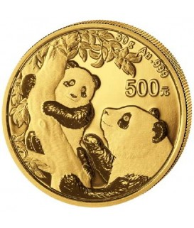 1 x 30 g Gold China Panda 2021