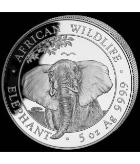 1 x 5 Oz Silber Somalia Elefant 2021*