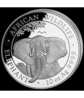 10 Oz Silber Somalia Elefant 21*