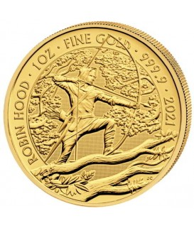 1 x 1 oz Gold Robin Hood 2021