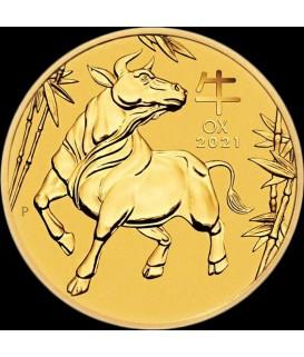 1 x 1/10 Oz Gold Lunar III Ochse 2021