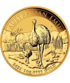1 x 1 Oz Gold Emu 2021