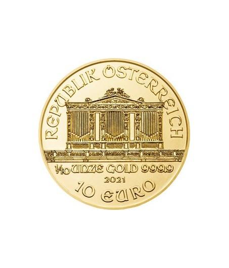 1 x 1/10 Oz Gold Philharmoniker 21