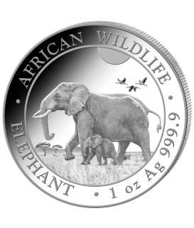 1 x 1 Oz Silber Somalia Elefant 2022*