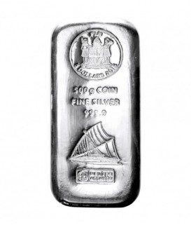 1 x 0,5 kg Silberbarren - Argor-Heraeus*