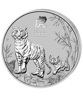 1 x 1 Oz Silber Lunar III Tiger 2022*