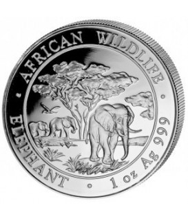 1 x 1 kg Silber Somalia Elefant 2012