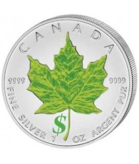 4 x 1 Oz Silber Maple Leaf 2012-Jahreszeiten-color