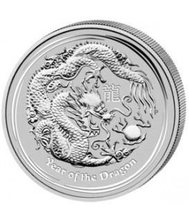 1 x 1 Oz Silber Lunar II Drache 2012