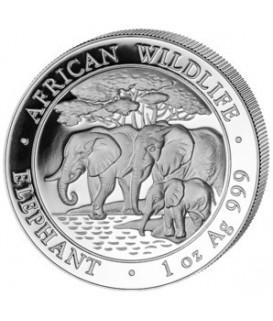 1 x 1 Oz Silber Somalia Elefant 2013