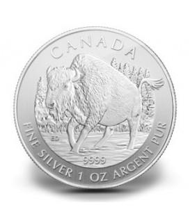1 x 1 Oz Silber Wildlife Bison 2013
