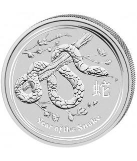 1 x 1 kg Silber Lunar II Schlange 2013