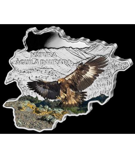 1 x 1 Oz Silber Andorra Wildlife Steinadler color