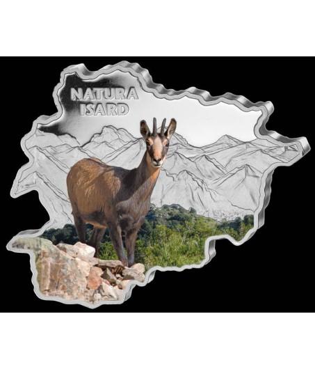 1 x 1 Oz Silber Andorra Wildlife Gemse color