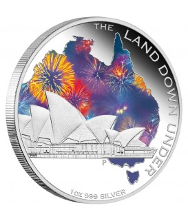 1 x 1 Oz Silber Australian Opera House color