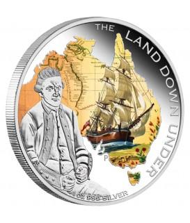 1 x 1 Oz Silber Australian Captain James Cook color